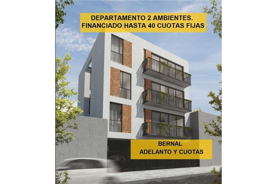 DEPTO 2 AMB BERNAL FINANCIACIÓN EN 40 CUOTAS FIJAS
