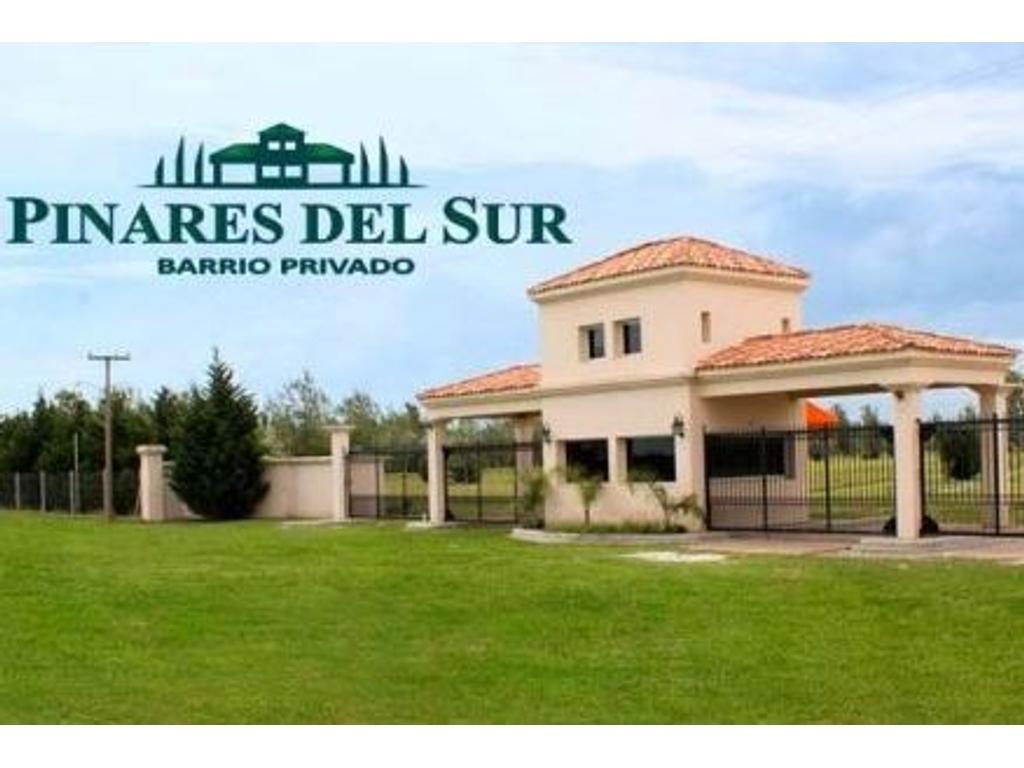 Lote a la venta en Barrio Privado Pinares del Sur. Piñero. Entrega marzo 2018.