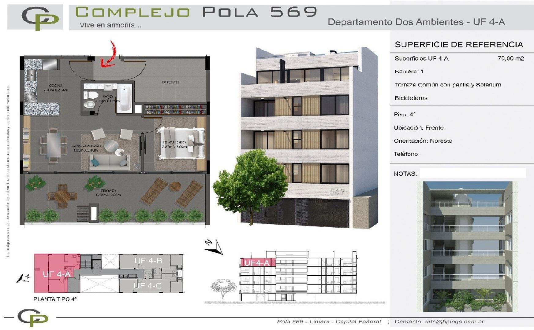 XINTEL(NIR-NIR-875) Departamento - Venta - Argentina, Capital Federal - POLA   AL 500