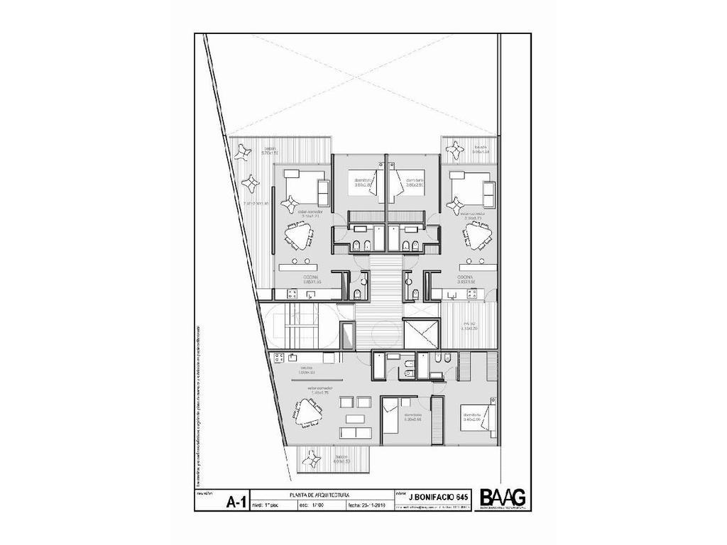 Exc. departamentos al frente p barrio de Caballito Sur a 1 cuadra de Pedro Goyena 2 baños completos