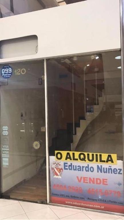 Exc local en GALERIA DEL SOL. FLORIDA Y PARAGUAY. EN PLENA ZONA COMERCIAL DE BARRIO NORTE.