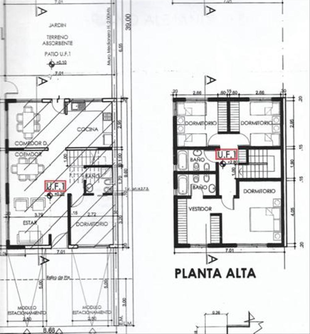 PH Tipo Casa 3 Dormitorios Garage Parrilla Jardin
