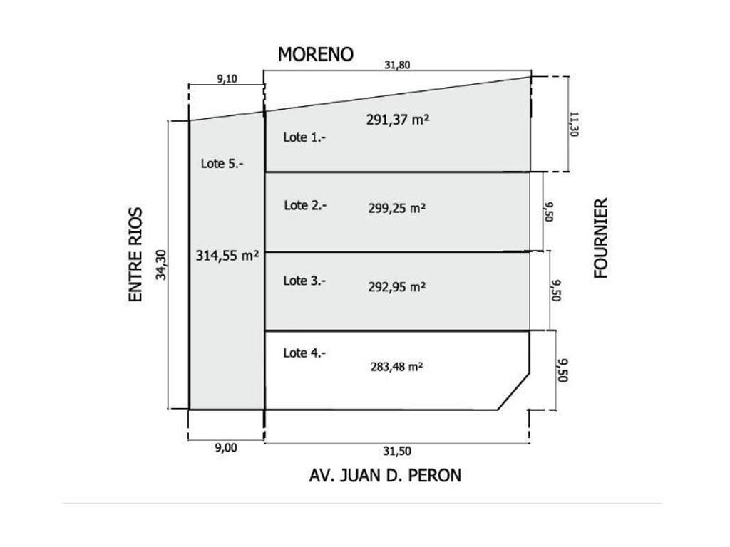 5 Lotes Sobre J.D. Peron y Fournier - VGG