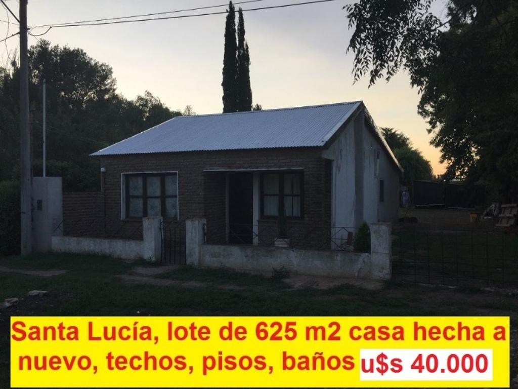 Casa en Santa Lucía, terreno de 625 m2