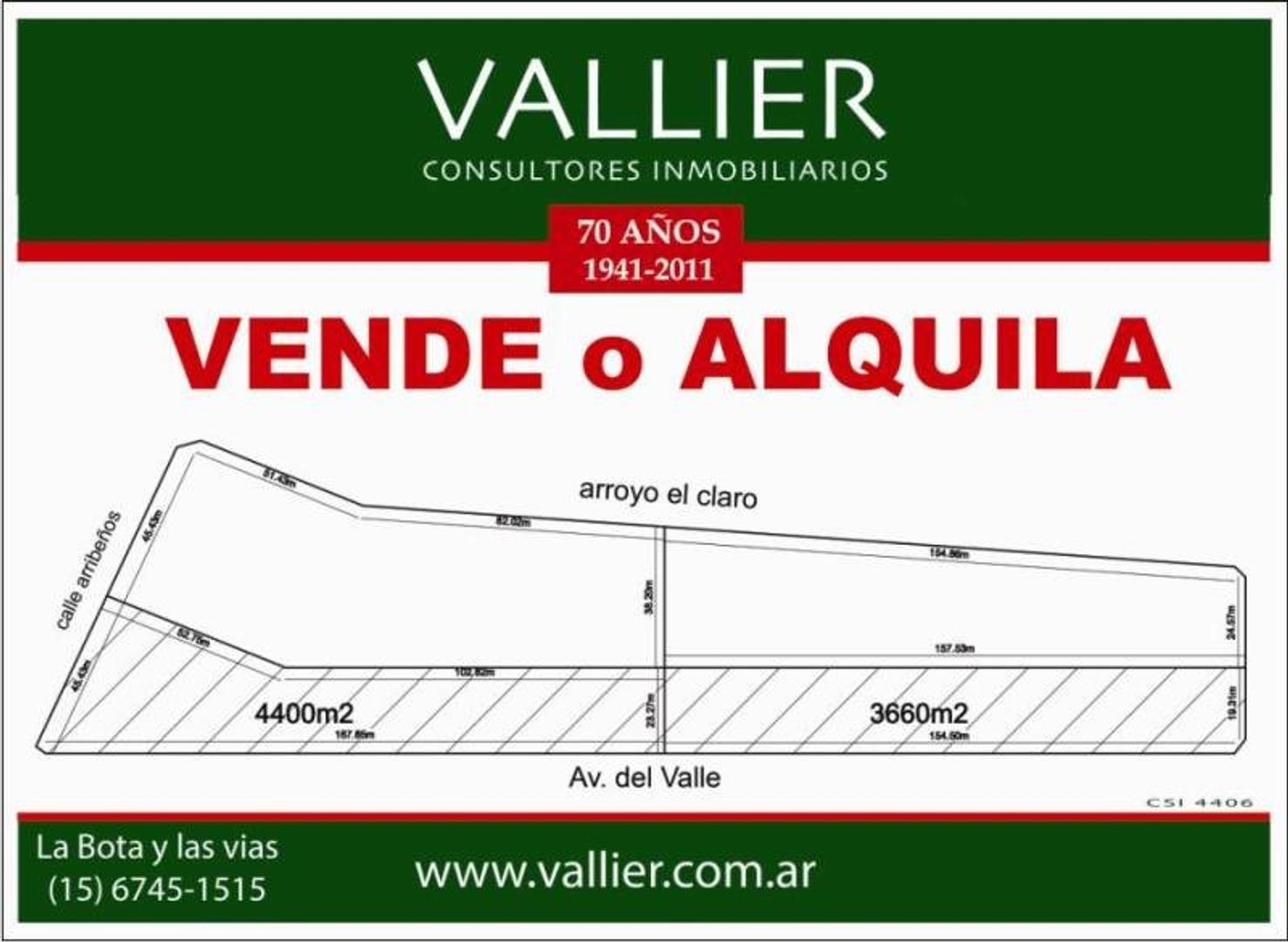 Venta de Fracción en Villanueva-Benavidez Valor por metro cuadrado