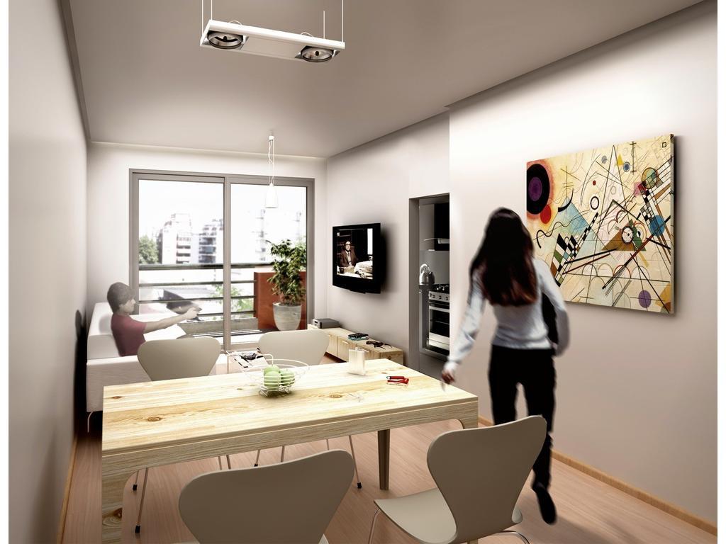 Departamento 2 amb + balcon en pesos financiado en pozo villa del parque cochera