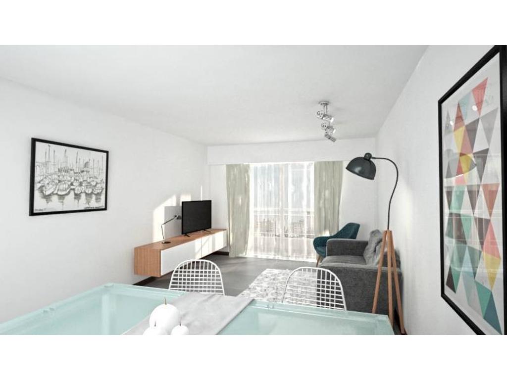 Venta semipisos 1 dormitorio en construcción - Santa Fe 2500 Rosario