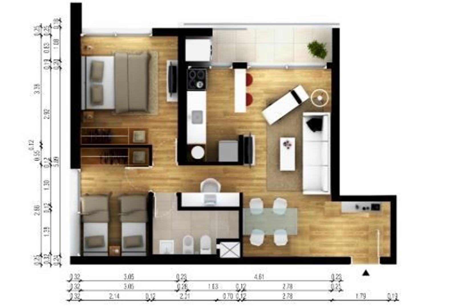 Ph - 70 m² | 2 dormitorios | A Estrenar