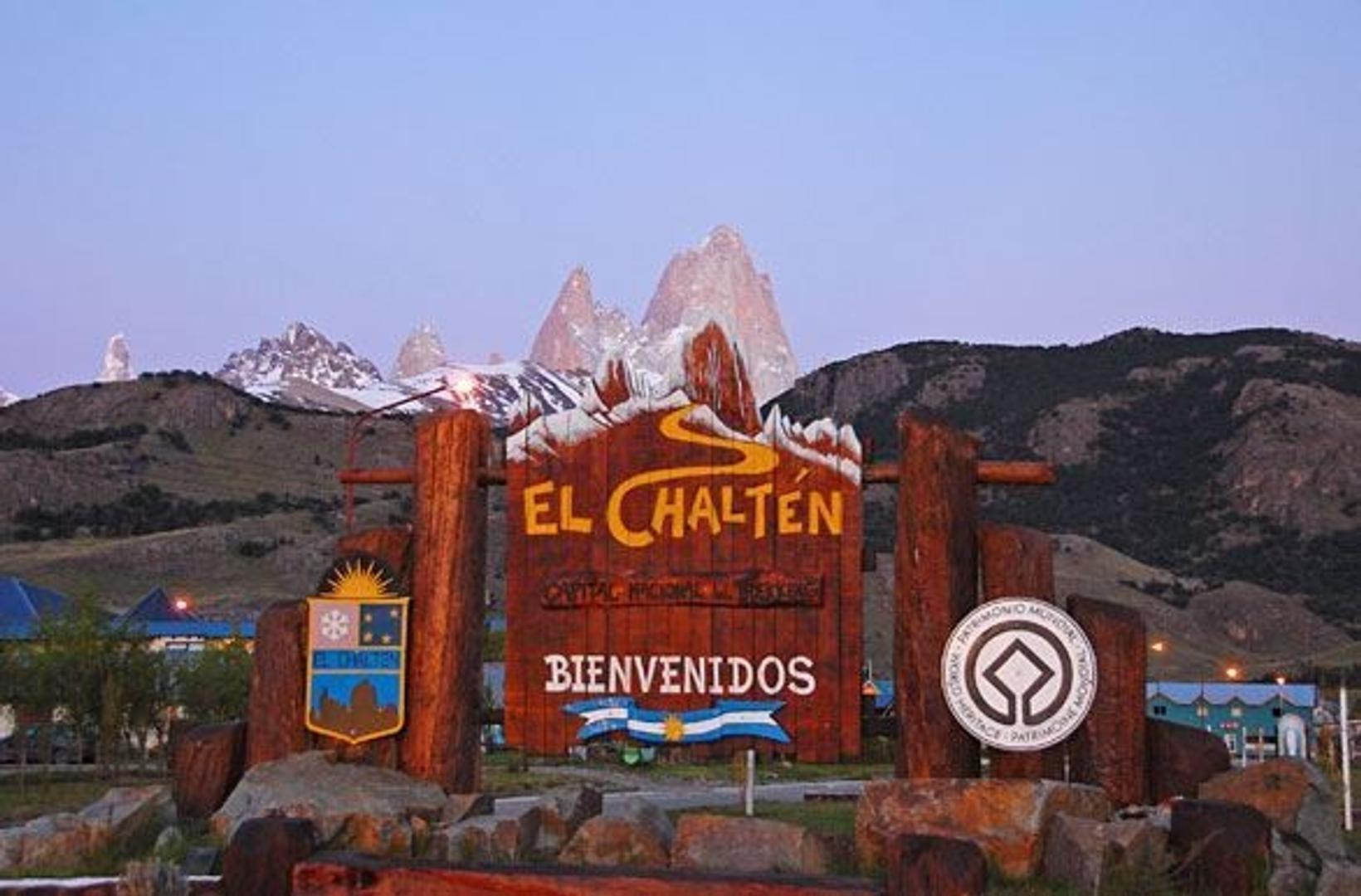 Lote céntrico en El Chalten con vista al cerro Fitz Roy, ideal emprendimiento comercial