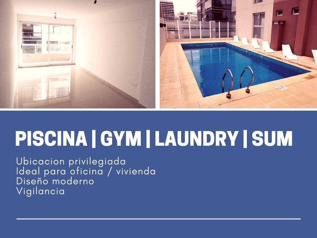 Moderno monoambiente, ubicación privilegiada (apto profesional) - Piscina SUM Gym Solarium Laundry