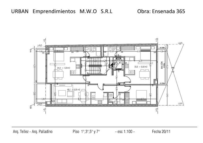 Ensenada al 300  - 2 ambientes con cochera