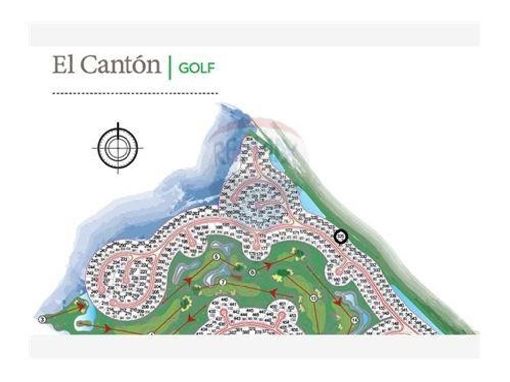 Lote de 800 mts en  El Canton Barrio Golf.