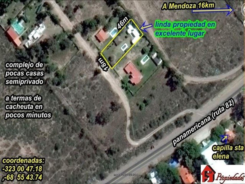 Casa  4dor, piscina parquizado , adyacente Vistalba Country– ruta 82