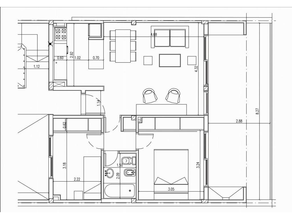 3 Ambientes con Balcon Terraza y Cochera en Alquiler
