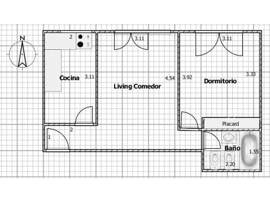 Alquiler - 2 ambientes - Caballito