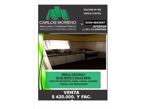 CASA EN MERLO CENTRO!!
