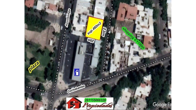 LOTE DE  460M2, FRENTE 23M A 80M DE CALLE AZCUENADA Y COCHAB
