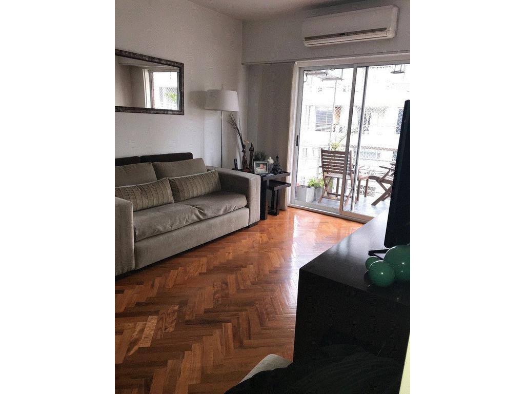 dpto 3 ambientes 6 piso al frente con balcon sin cochera, 65 m2.