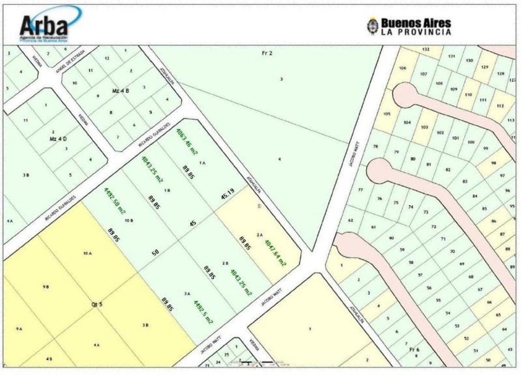 6 fracciones de terreno en venta. Excelente ubicación.