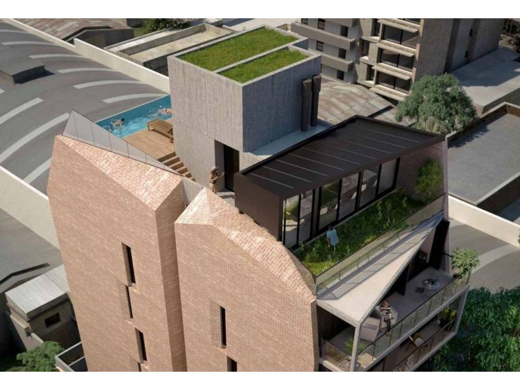 2 Dormitorios con patio - Edificio de diseño en zona rio