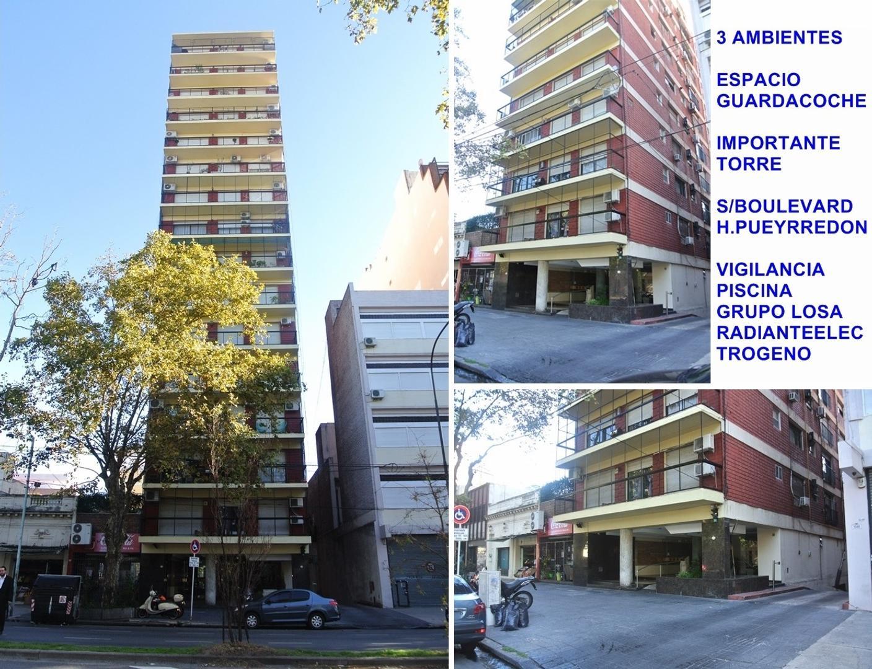APTO CREDITO 3 AMBIENTES + COCHERA MOVIL DECIMO PISO 54m2