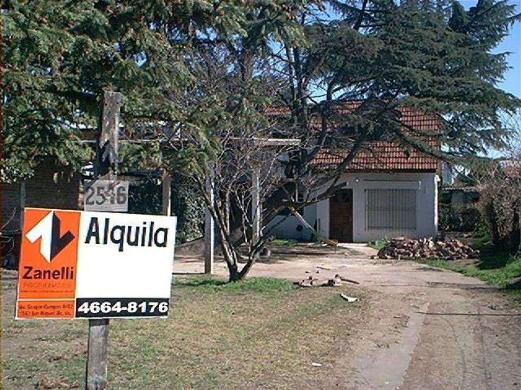 Casa en alquiler en avenida primera junta 2546 san for Alquiler de casas en san miguel ciudad jardin