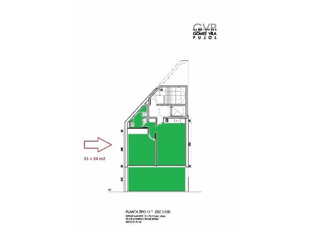 Venta 1 dormitorio con terraza al pozo, Rosario, Santa Fe