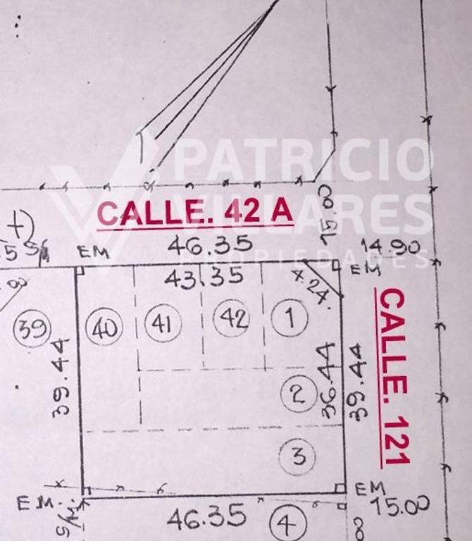 RANELAGH CALLE 121 Y 42 A, BARRIO DEL GOLF EXCELENTES 6 LOTES, SE VENDEN JUNTOS