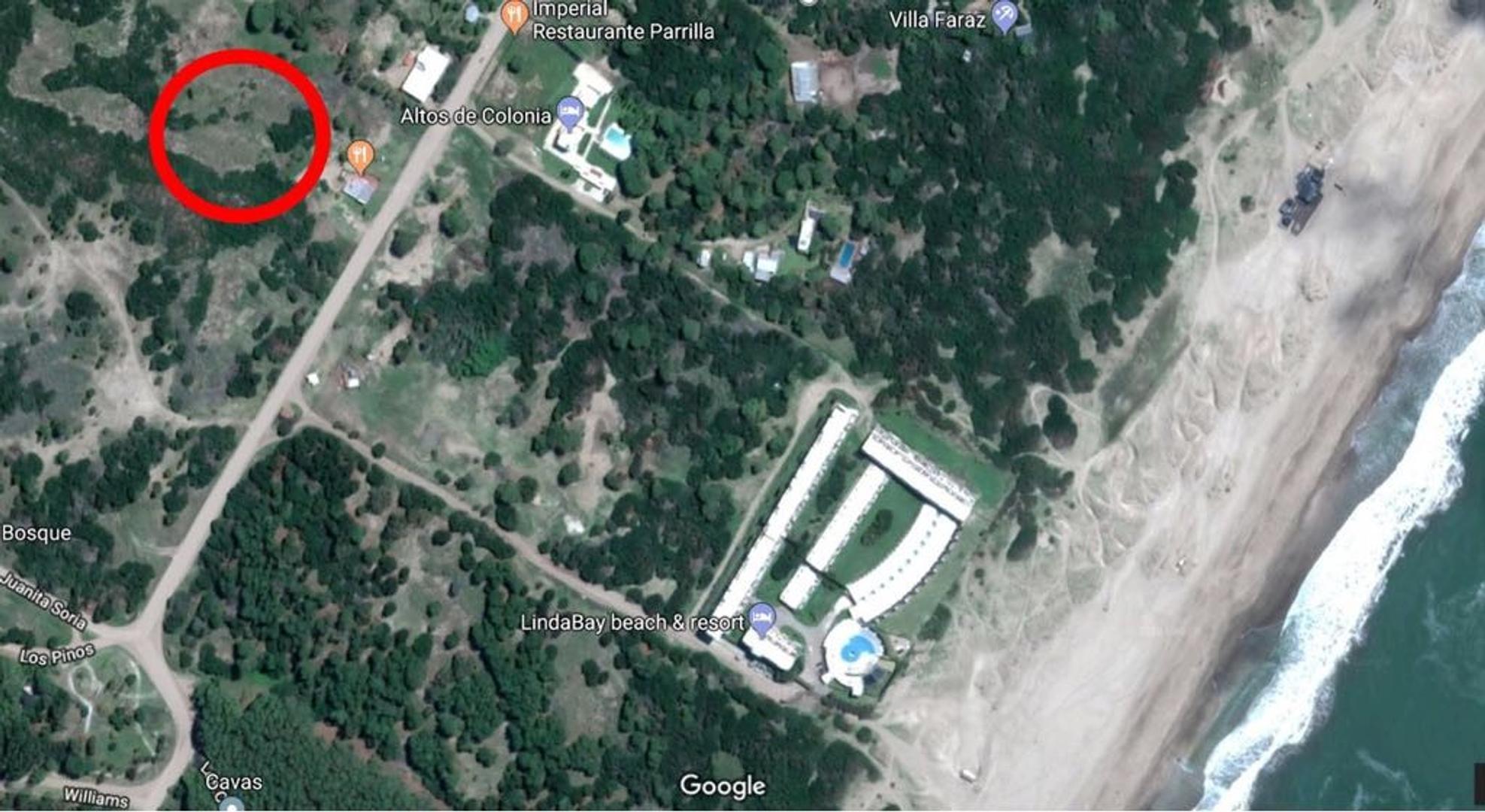 Villa Gesell Mar de Las Pampas(Colonia Marina), lote de 2593m2