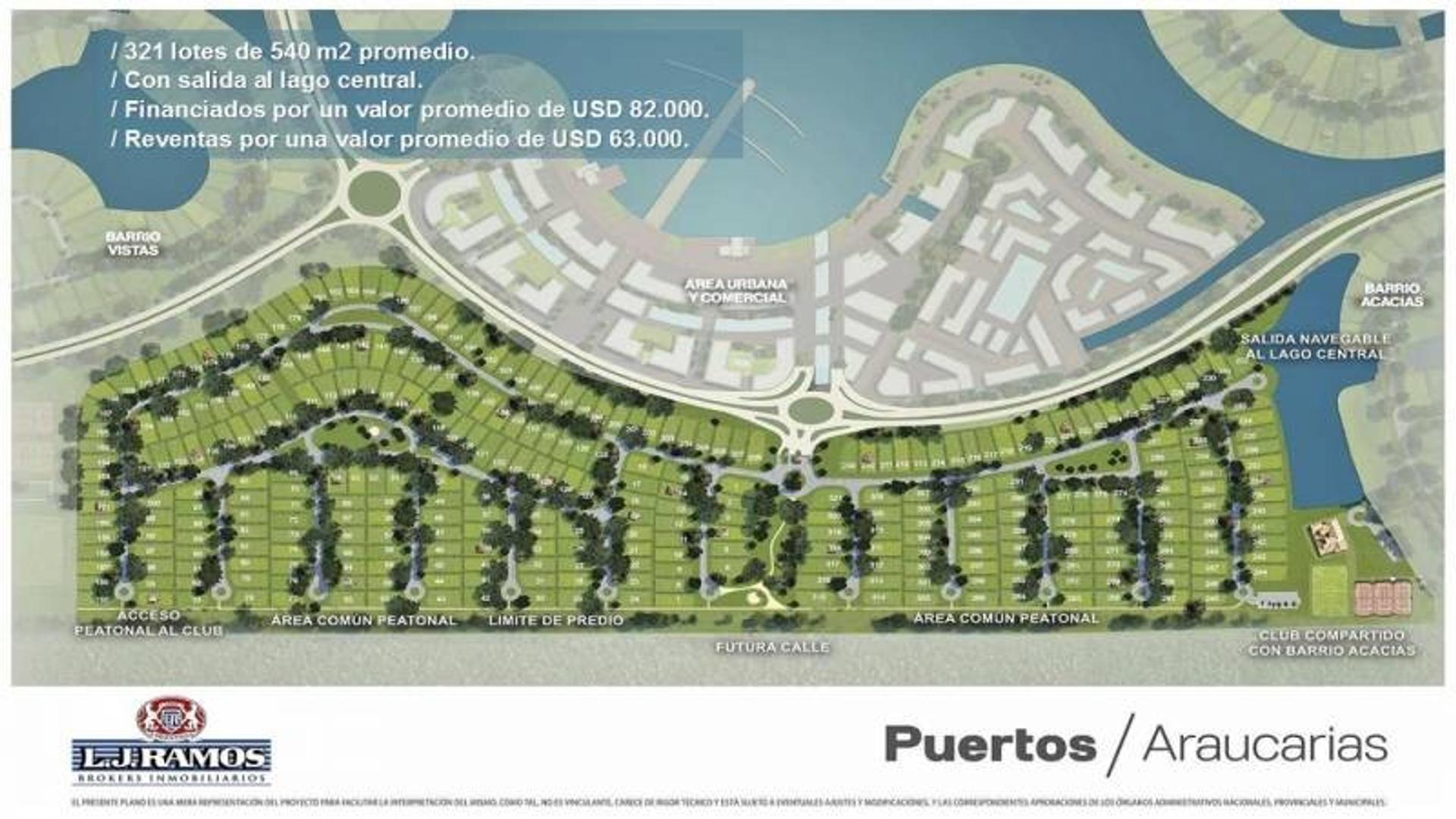 PUERTOS - BARRIO ARAUCAURIAS - RAMAL ESCOBAR KM 45 - LOTE 74 - 100