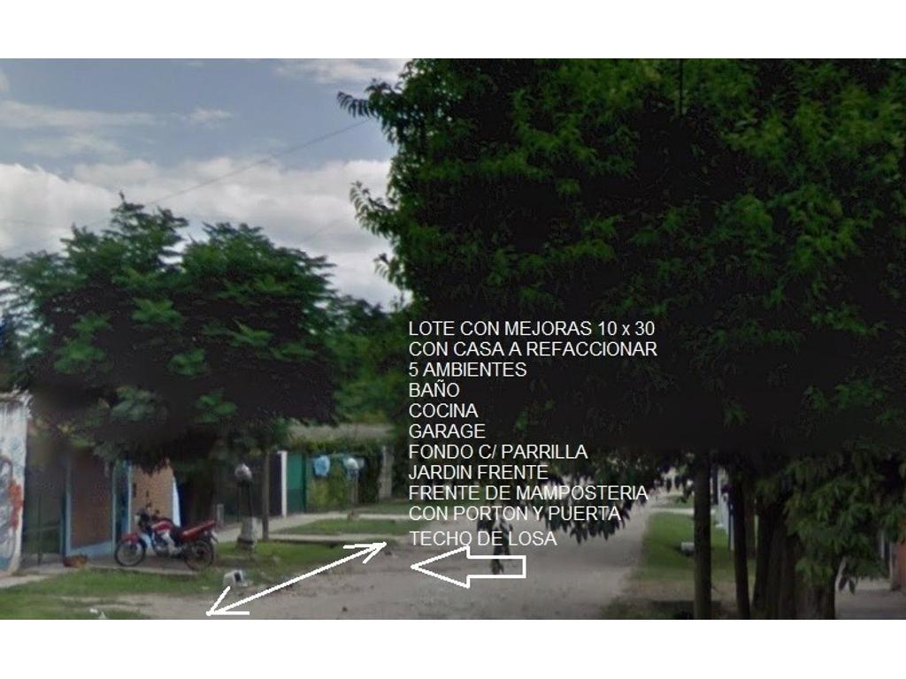 EXC. LOTE Y CASA A REFACCIONAR!!OPORTUNIDAD INMEJORABLE UBICACION A 1/2 CUADRA DE EVA PERON(RUTA 21)