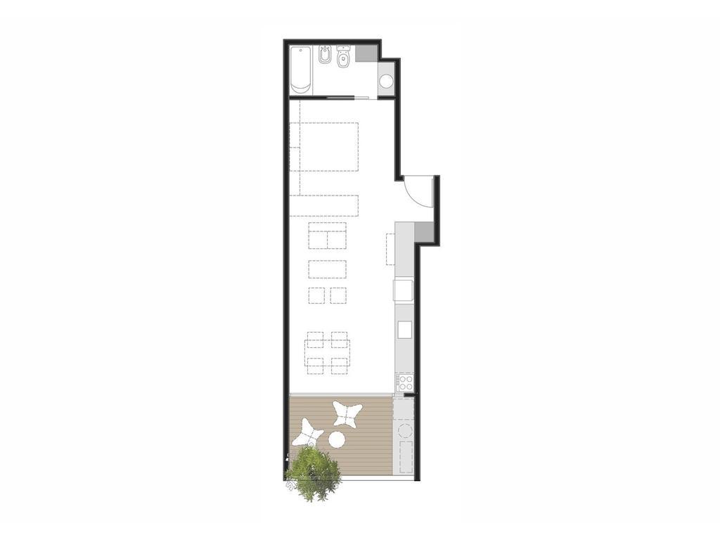 EF84 - Monoambiente divisible de 51 m2