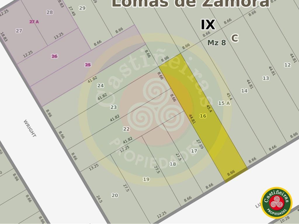 LOTE 8.66 X 45 - DUEÑO FINANCIA en CUOTAS FIJAS !!!