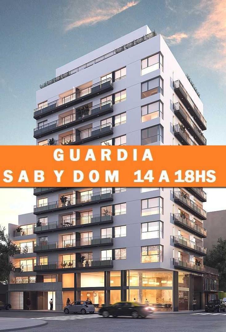 2 Ambientes con Suite, toillette y Balcon corrido.VER SAB Y DOM DE 14 A 18HS