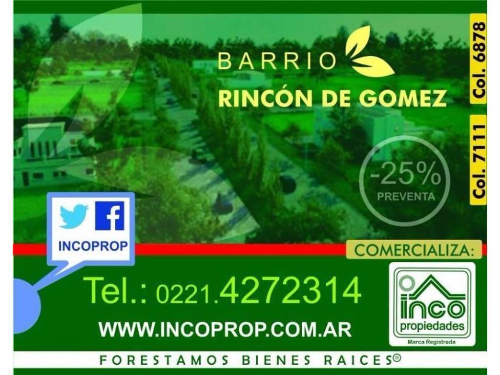 LOTES EN BARRIO RINCÓN DE GOMEZ, BRANDSEN