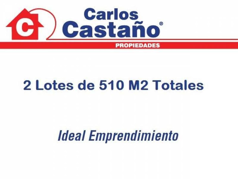 2 Lotes Juntos de 510 M2 Totales en el Bajo de Olivos - Villate 300 Olivos