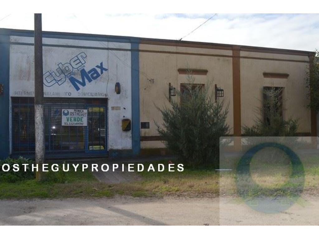 Magdalena, Vieytes, casa-deposito y local en venta