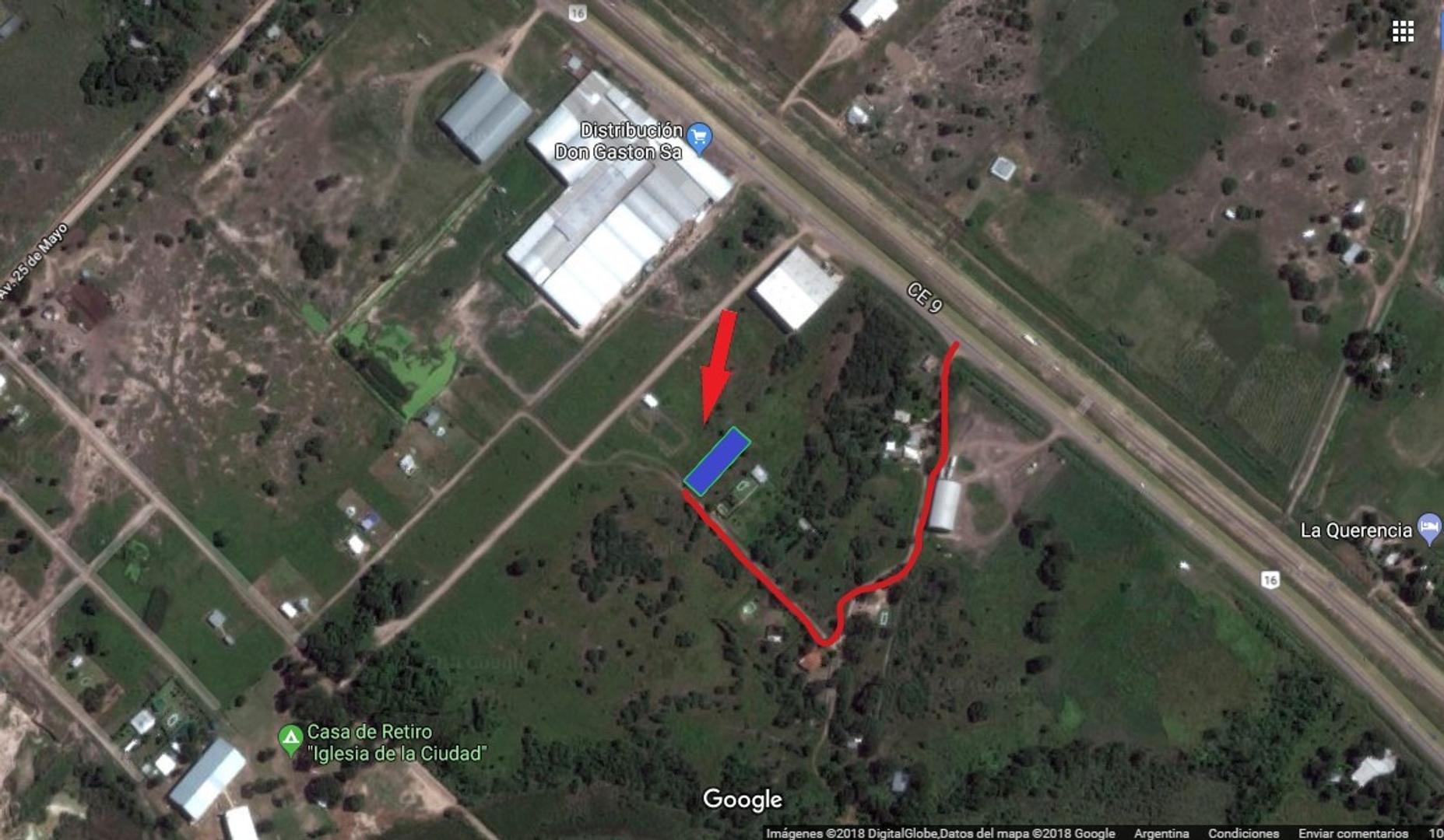 Vendo 2 Terrenos 14 x 45 Mts. cada uno, a menos de 5 km de rotonda rutas 16 y 11
