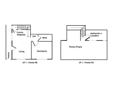 PH al frente 3 amb + terraza propia, todo luz / Refac (faltan detalles) + espacio aéreo propio