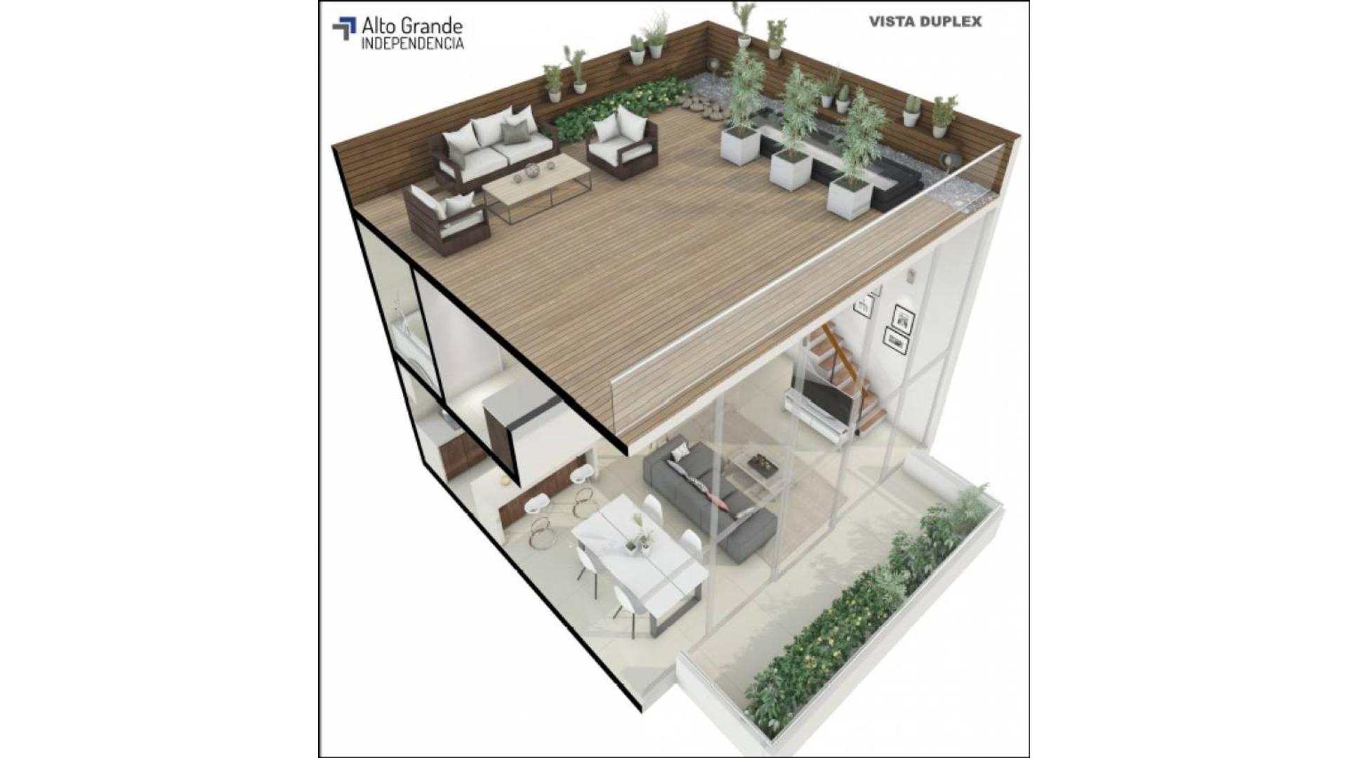 Duplex 2amb con Terraza propia. Luminoso en pozo San Telmo. Anticipo y Cuotas en pesos
