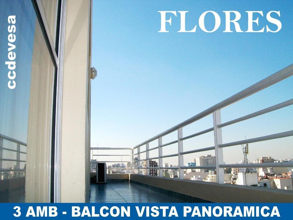 3 AMB Balcón (A/Prof) en Alberdi al 2500 (FLORES)