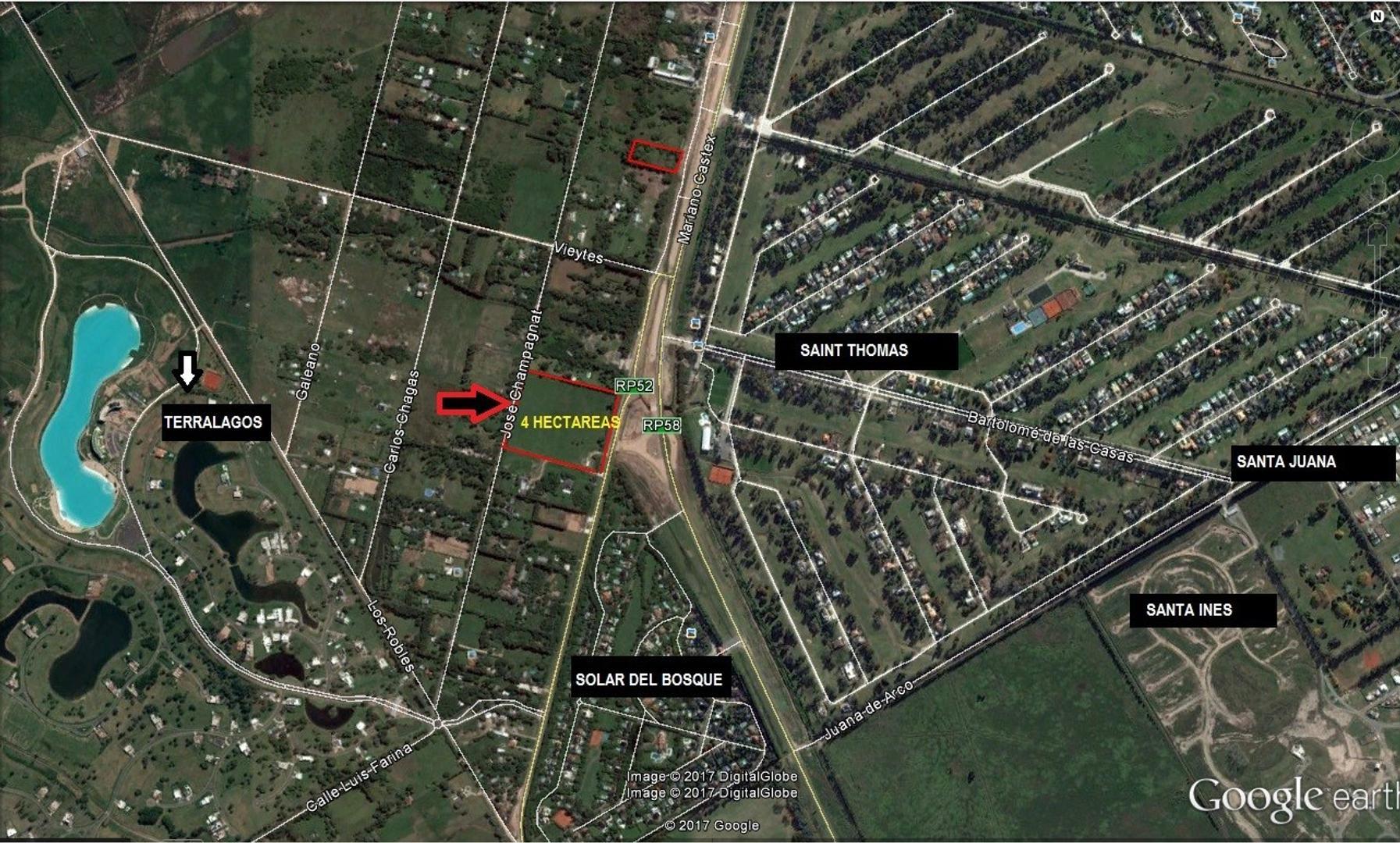 INMEJORABLE FRACCIÓN DE 4 HAS, EN CANNING P/ DESARROLLO INMOBILIARIO! con frente sobre ruta 52
