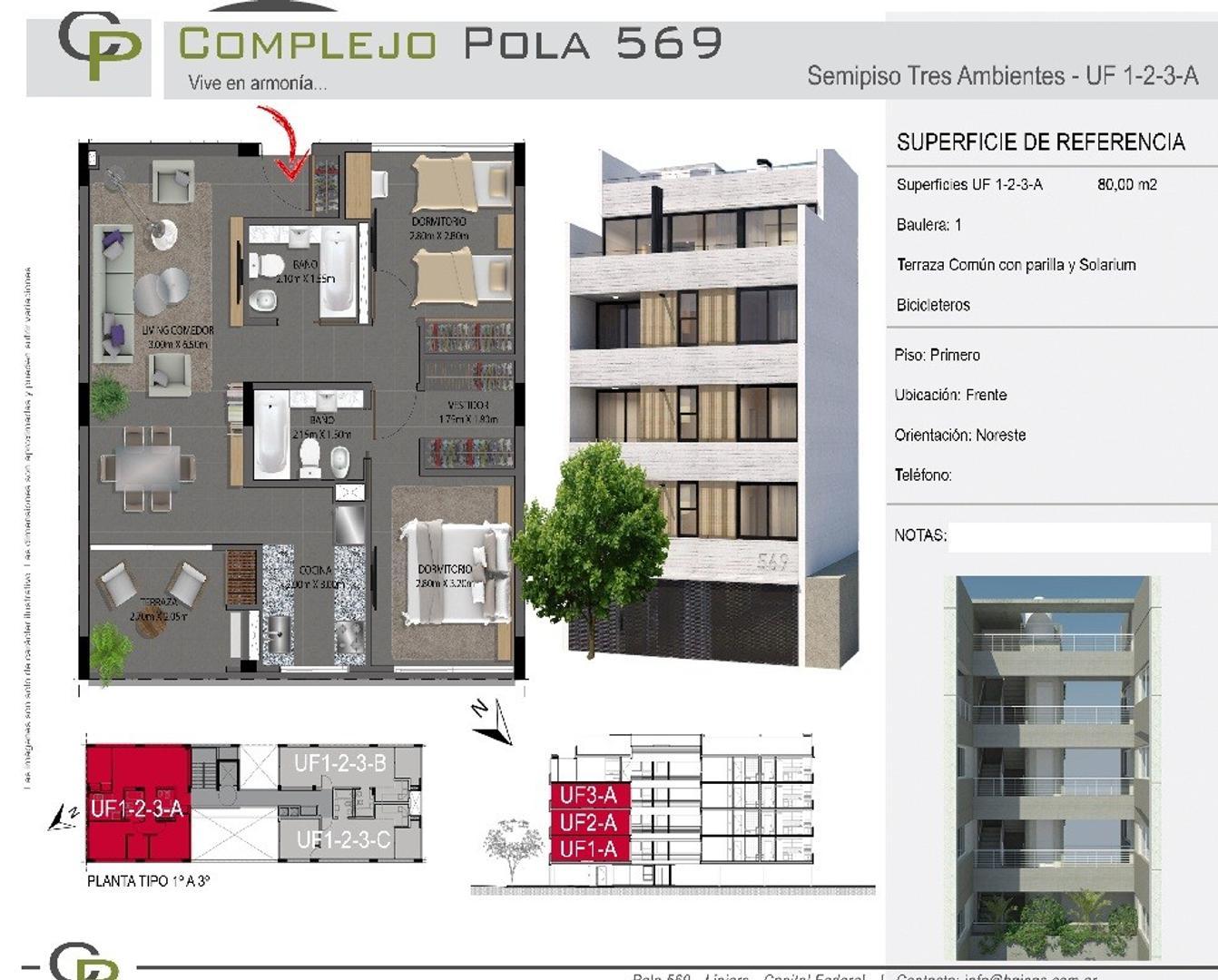 XINTEL(NIR-NIR-866) Departamento - Venta - Argentina, Capital Federal - POLA   AL 500
