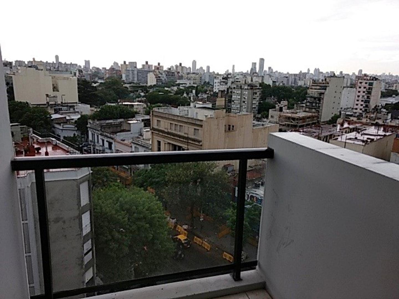 Chacarita venta monoambiente a estrenar piso alto muy luminoso al frente vista abierta apto profes
