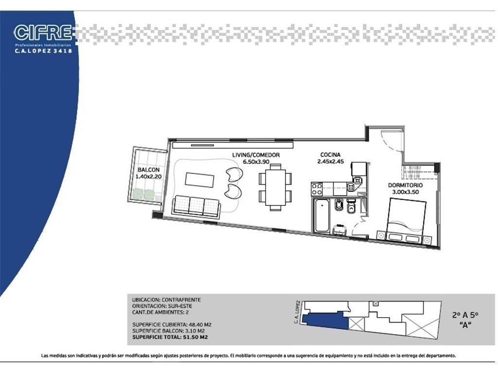 Depto al frente a estrenar de 2 ambientes con balcon entrega septiembre 2018 (SUC. MOSCONI 4574-444)