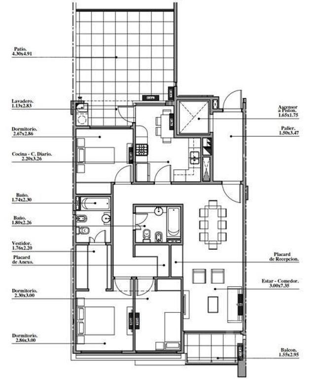 Departamento 4 ambientes con balcón - Villa Luro