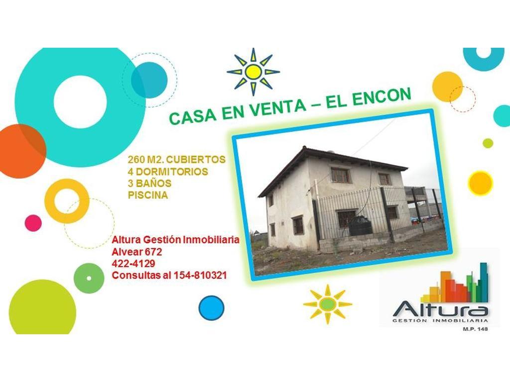 CASA EN VENTA - EL ENCON - SALTA