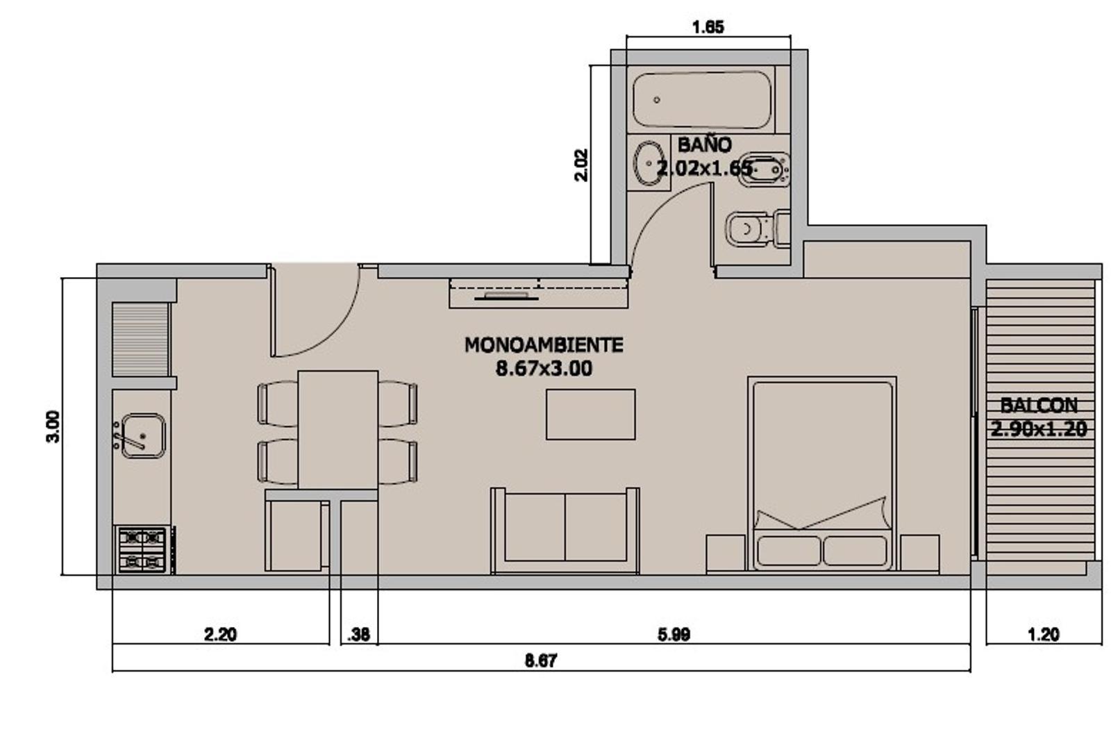 Villa Crespo venta Estrenar en obra LOFT 48m2 divisible en 2 amb apto profesional contrafr amenities