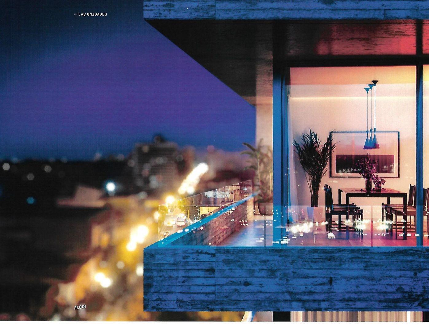 FLOO! Departamento de 3 ambientes con dos baños, cocina independiente y balcón.