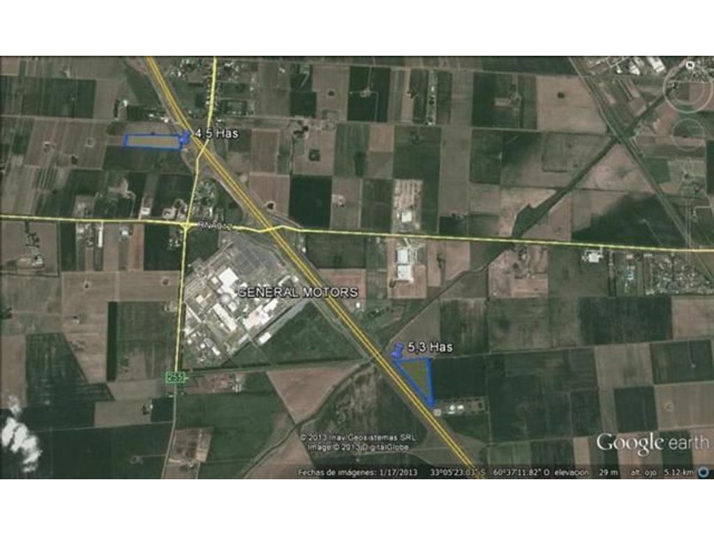 Fracción 5.3 Has frente a General Motors zona netamente industrial
